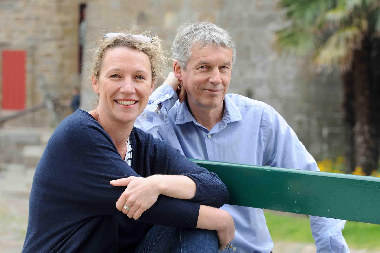 Anne-Laure Bondoux et Jean-Claude Mourlevat à Saint-Malo/©Marc Ollivier