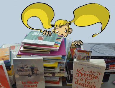 Des piles de livres et Livresse au taquet… c'est la rentrée littéraire des livres jeunesse
