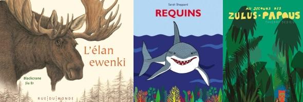 Un élan, des requins et une grenouille… Trois albums très nature