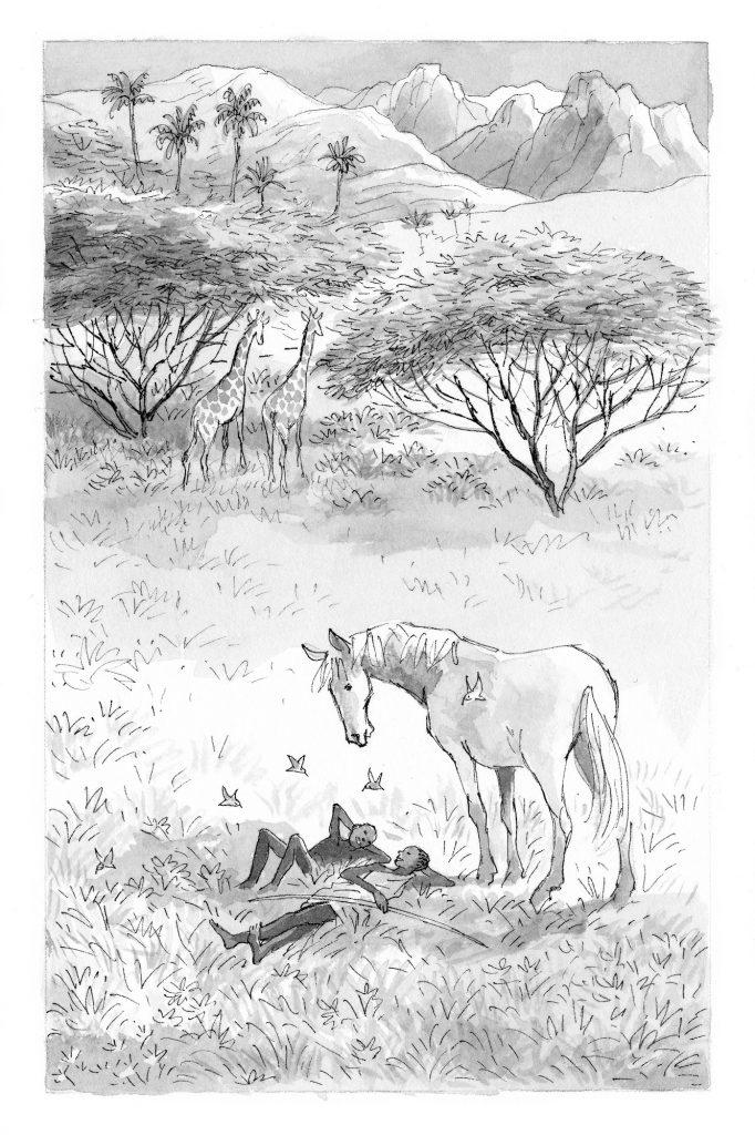 Alma, Lam et Brouillard. Illustration François Place.